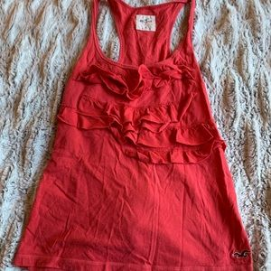 🎉Hollister Red Ruffle Tank Top
